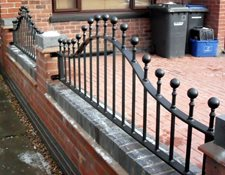 Arched wall railings