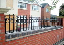 Victorian railings with circle banding