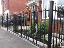 Victorian railings with safety finials