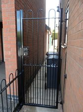 Bow top design tall entrance gate